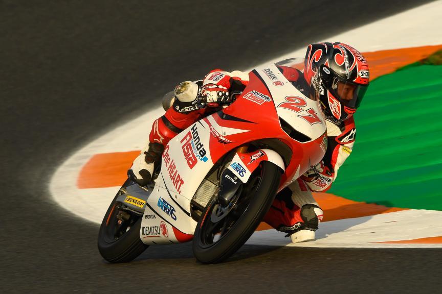 Kaito Toba, Honda Team Asia, Gran Premio Motul de la Comunitat Valenciana