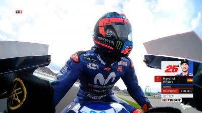 En piste avec Maverick Viñales en qualifications