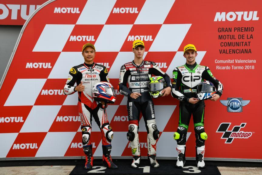 Tony Arbolino, Nakarin Atiratphuvapat, John Mcphee, Marinelli Snipers Team, Gran Premio Motul de la Comunitat Valenciana