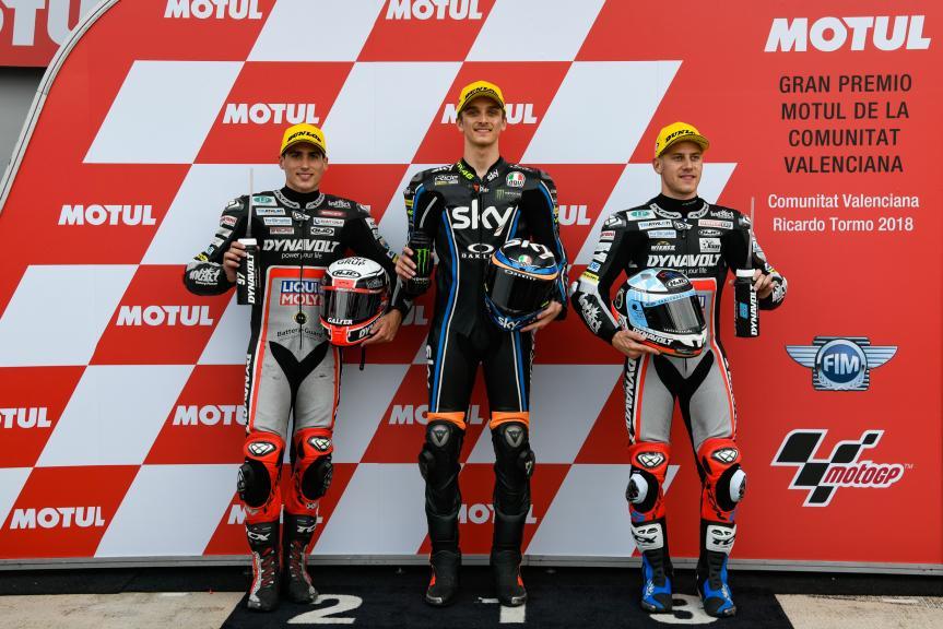 Luca Marini, Xavi Vierge, Marcel Schrotter, Gran Premio Motul de la Comunitat Valenciana