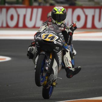 Arbolino fährt auf dem Circuit Ricardo Tormo auf die Pole