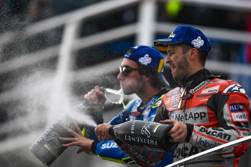 Andrea Dovizioso, Ducati Team, Alex Rins, Team Suzuki Ecstar, Gran Premio Motul de la Comunitat Valenciana