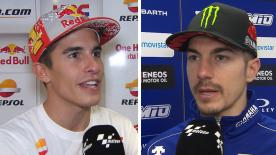 We catch up with the MotoGP? riders to get their thoughts after the thrilling race at the Gran Premio Motul de la Comunitat Valenciana