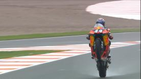 The Red Bull KTM Ajo rider rode to strong victory in a dramatic Moto2™ race, ahead of Lecuona and Marquez in Valencia