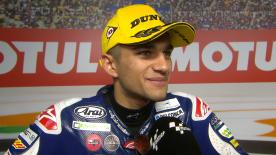 The Moto3™ World Champion rounded off his career with a hard fought second place