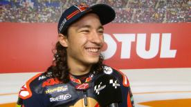 The Turkish rider made history as the youngest ever rider to win a Grand Prix, winning his debut outing in the lightweight class