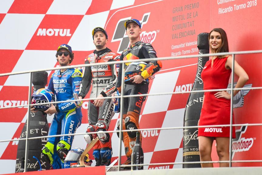 Andrea Dovizioso, Alex Rins, Pol Espargaro, Gran Premio Motul de la Comunitat Valenciana