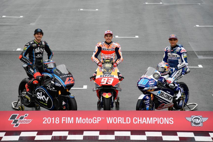 Marc Marquez, Francesco Bagnaia, Jorge Martin, Gran Premio Motul de la Comunitat Valenciana