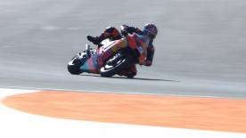 Frenchman had slight scare during first laps with his new team at the Valencia Test