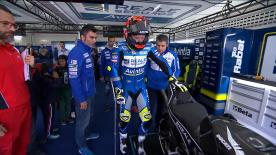 Tras la lesión sufrida en Silverstone, el español ha vuelto a subirse con dificultades a su Ducati