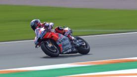 El  nuevo piloto del equipo Ducati ya ha estrenado su nuevo mono y su nueva moto en Valencia