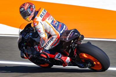 Marquez' maiden outing on the brand new Honda bike