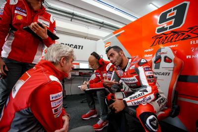 Petrucci's first day on the official Ducati Desmosedici