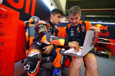 Jorge Martín se lesiona en su primer Test de Moto2™