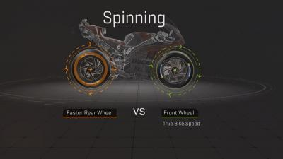 Why does the rear wheel spin faster than the front one?