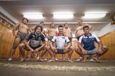 Quand le MotoGP™ part à la découverte du sumo...