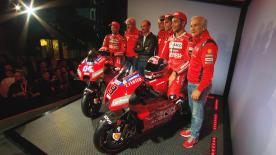 Dovizioso, Petrucci, Pirro, Dall'Igna and Domenicali talk about the new Desmosedici, their new team and the 2019 season