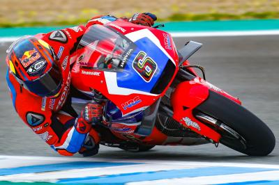 Bradl testing an RC213V in Jerez