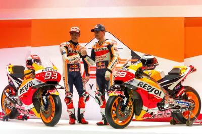 El equipo Repsol Honda viste de gala a su 'Dream Team'