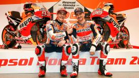 Repsol Honda launched its 2019 campaign in Madrid, where Marc Marquez and Jorge Lorenzo unveil their machines