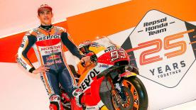 Speaking at the Repsol Honda launch event, the number 93 talks about his injury and the upcoming tests