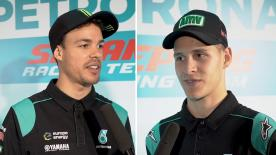 Los dos jóvenes pilotos del Petronas Yamaha SRT se presentaron en Malasia con el resto del equipo