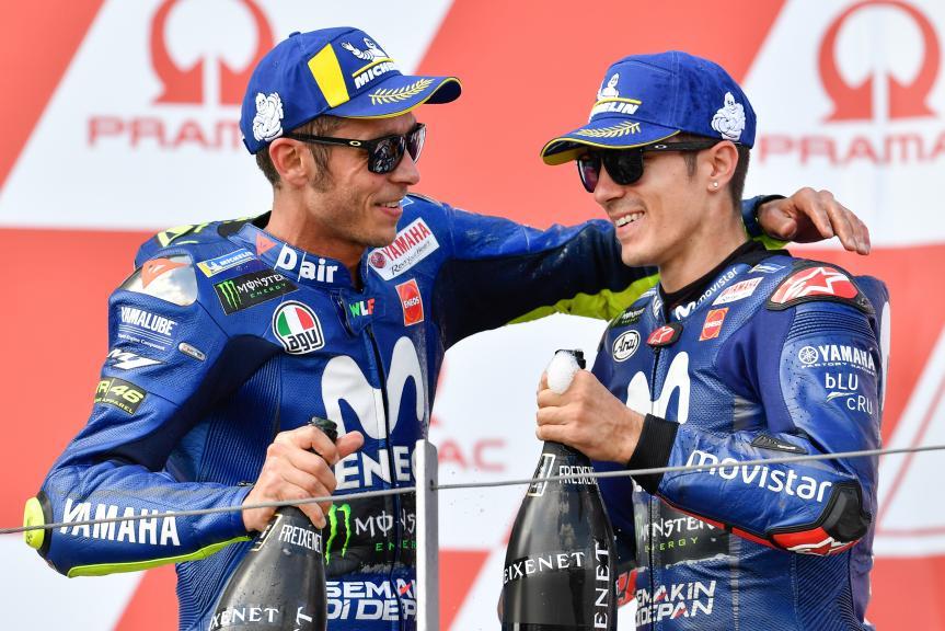Maverick Viñales, Valentino Rossi, Movistar Yamaha MotoGP