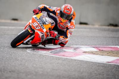 Marquez back on a bike after two months away