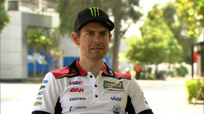Crutchlow is back on track