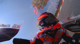 Jump on board with the World Champion as he rides a lap in the Sepang Test and see how he's adapted his riding to his shoulder