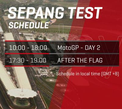 ⏰ #SepangTest Day 2 is underway!  Follow all the action from
