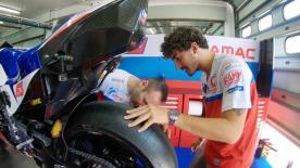 Le immagini esclusive del rookie Alma Pramac Racing, e campione del mondo, al debutto nei test di Sepang