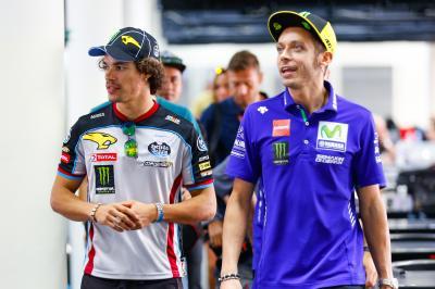 """Rossi: """"Morbidelli y Bagnaia me lo van a poner difícil"""""""