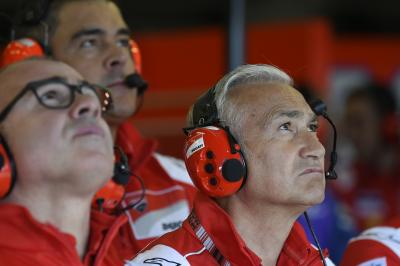 Factory bosses examine the Sepang Test