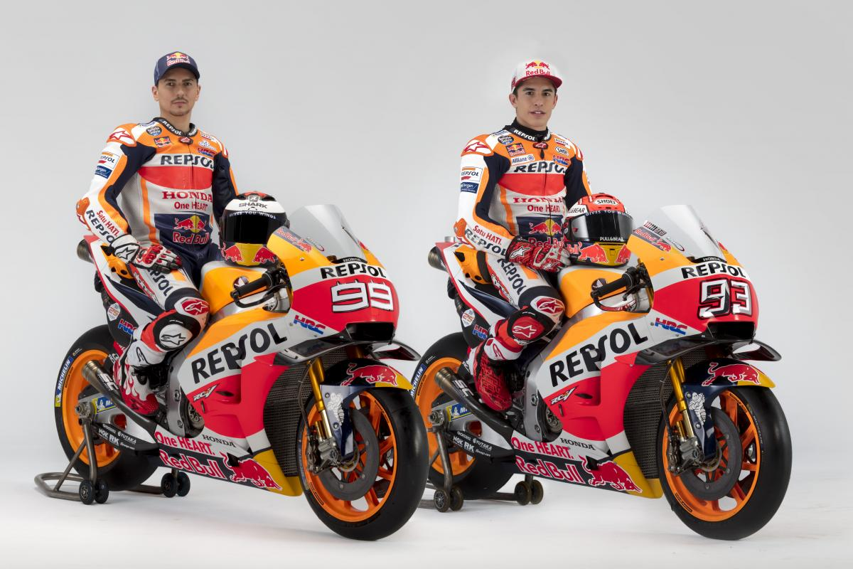 pictures from the 2019 repsol honda photo shoot motogp. Black Bedroom Furniture Sets. Home Design Ideas