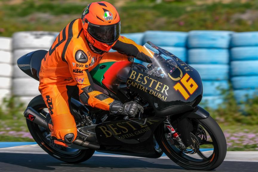 Andrea Migno, Bester Capital Dubai, Jerez Moto2™-Moto3™ Test