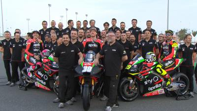 Aprilia Teamvorstellung auf dem Losail International Circuit