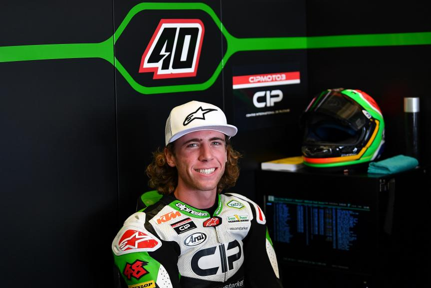 Darryn Binder, CIP Green Power, Jerez Moto2™-Moto3™ Test