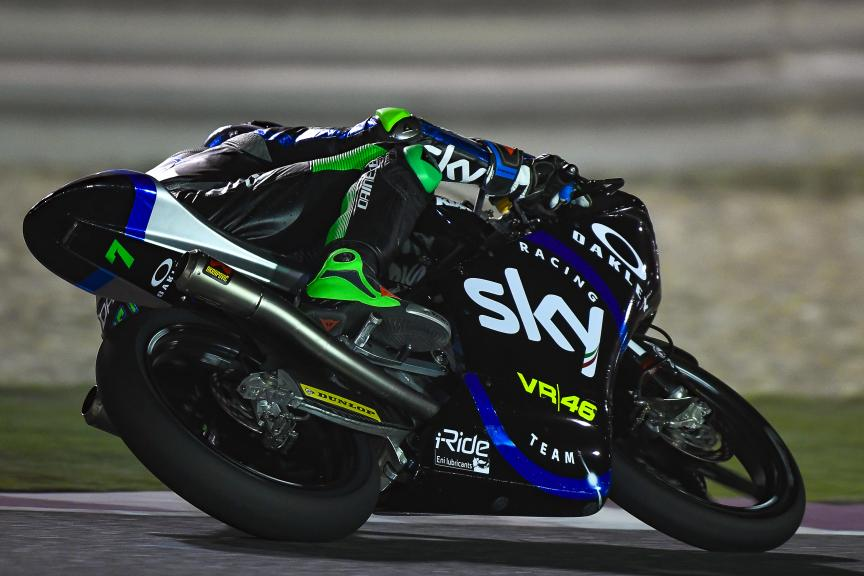 Dennis Foggia, Sky Racing Team VR46, Qatar Moto2™-Moto3™ Test