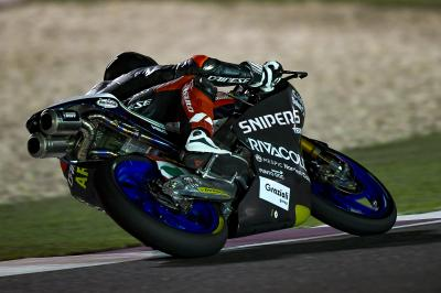 Who was fastest on Day 1 at the Moto3™ Qatar Test?