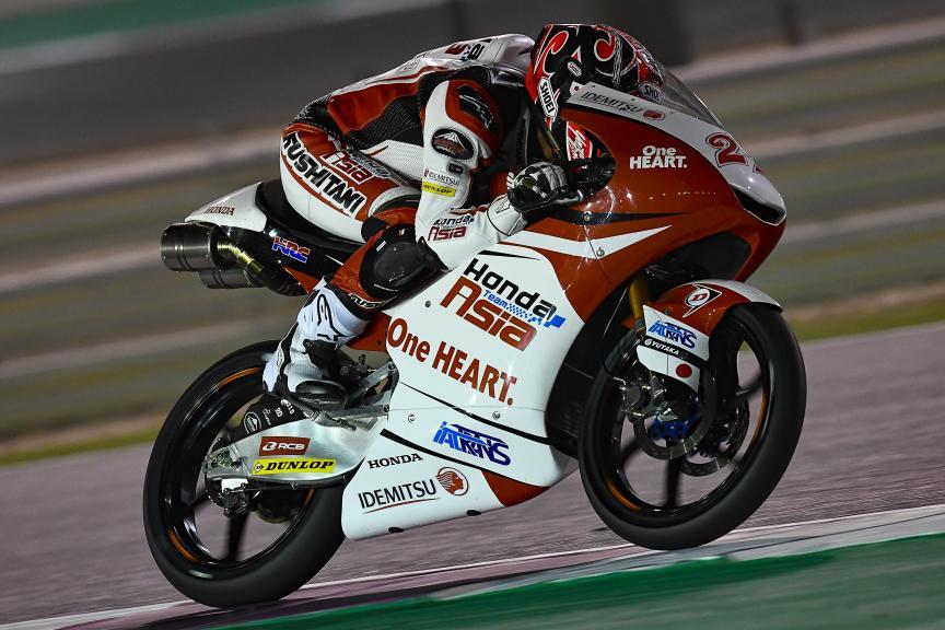 Kaito Toba, Honda Team Asia, Qatar Moto2™-Moto3™ Test