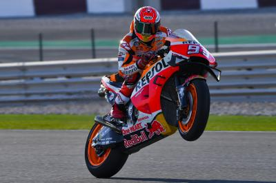 Marquez fastest, Rossi and Lorenzo will contest in Q1