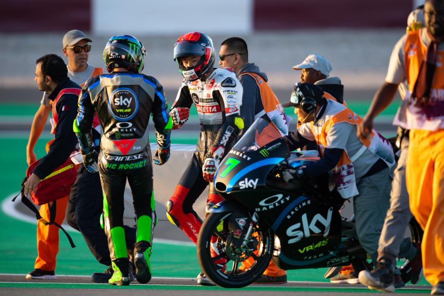 Dennis Foggia, Sky Racing Team VR46, Tatsuki Suzuki, SIC58 Squadra Corse, VisitQatar Grand Prix