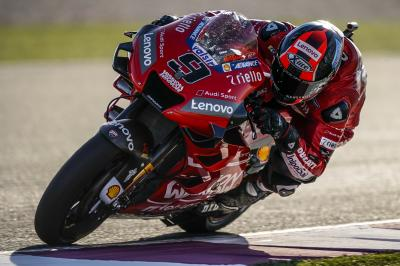 Petrucci, Marquez, Rins the top three in Warm Up