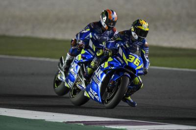 Rins, Mir: Suzuki's strong Sunday showing at Losail