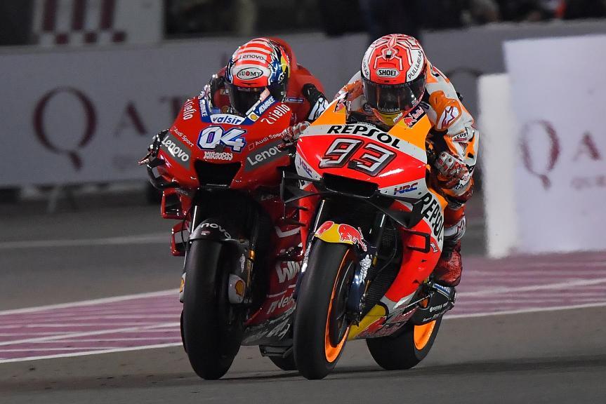 Andrea Dovizioso, Marc Marquez, VisitQatar Grand Prix