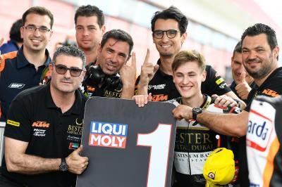 Erste Pole für Masia im Moto3™ Qualifying inTermas