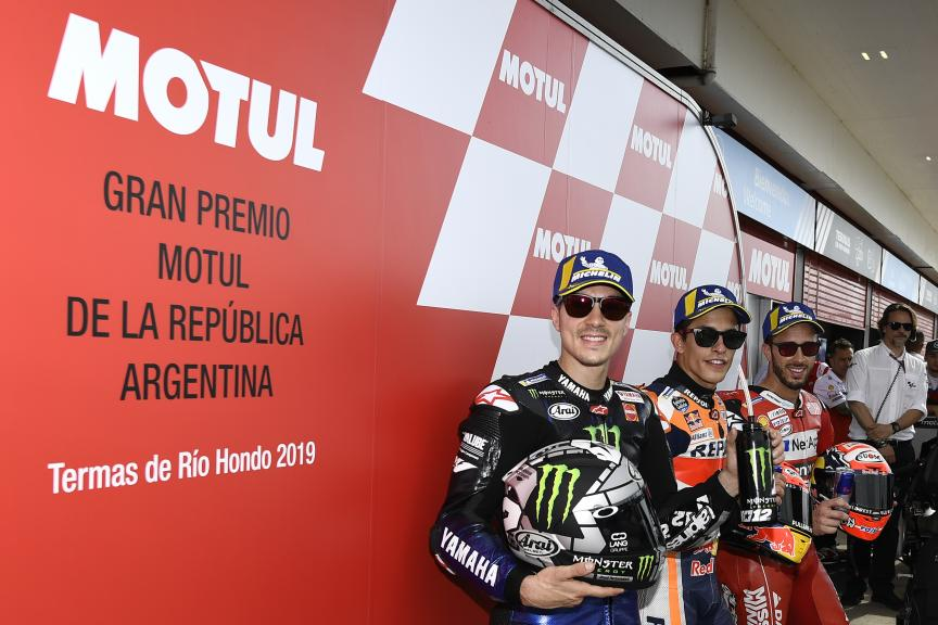 Marc Marquez, Andrea Dovizioso, Maverick Vinales, Gran Premio Motul de la República Argentina
