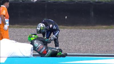 Morbidelli und Viñales Crash in letzter Runde