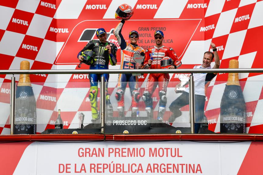 Marc Marquez, Valentino Rossi, Andrea Dovizioso, Gran Premio Motul de la República Argentina